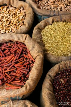 """hijos-delsol: """"my-spirits-aroma-or: """"Bag full of Spices Scene from a spice market at Fort kochi by Rahul Sudha """" Perfection """" Deep Autumn Color Palette, Death On The Nile, Spices And Herbs, Soft Autumn, My Spirit, Kraut, Spice Things Up, Kochi, Finding Yourself"""