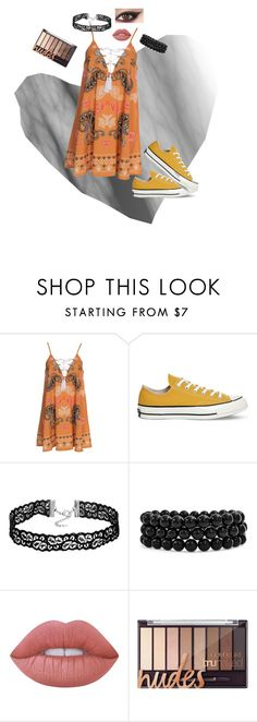 """""""Fourth row only"""" by frozensunset on Polyvore featuring Kiss The Sky, Converse, Bling Jewelry and Lime Crime"""