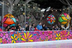 Portraits of Hope Painted Outdoor Ice Arena at featured at ICE at Santa Monica on Wednesday, November 10, 2010.
