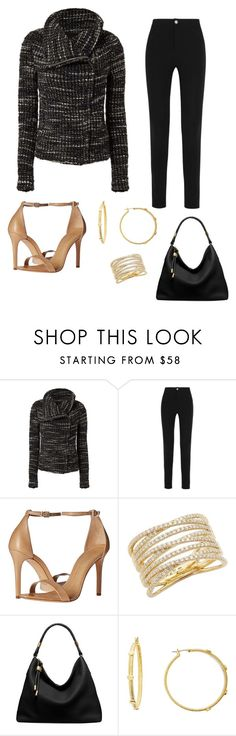 """""""Tweed jacket - Work"""" by brittjade ❤ liked on Polyvore featuring IRO, Givenchy, Schutz, Bony Levy, Michael Kors and Diane Von Furstenberg"""