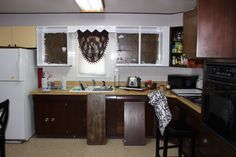 Before my Kitchen update! The ugly truth!