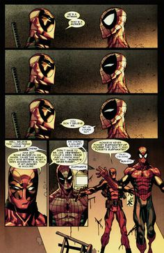 "Deadpool & Spider-Man  ""Monkeys never forget elephants?  Of course they don't!  Who forgets elephants?"""