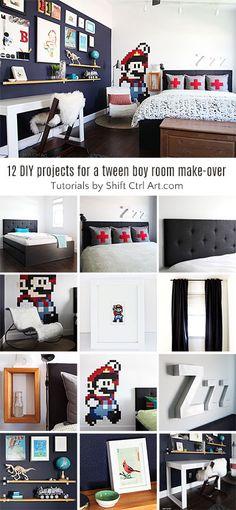 b tween bedroom reveal - 12+ DIY projects in this room