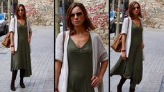 ST 48 VESTIDO EN VERDE CAQUI   KHAKI GREEN DRESS - YouTube