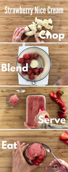 Strawberry Nice Cream recipe on the blog: refreshing, delicious, sugar-free, dairy-free, vegan dessert perfect for anytime!