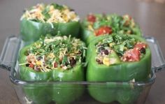 Quinoa and Black Bean Stuffed Bell Peppers via @Cassie G G | Bake Your Day by melody