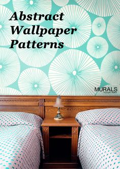 Love the modern pattern on this mural wallpaper! Custom size murals to fit any wall - change the scale or change the color to suit your room.  #myMYWmural
