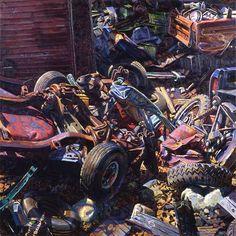 Ken Tighe - boneyard, 1992, 30″ x 30″, oil on canvas