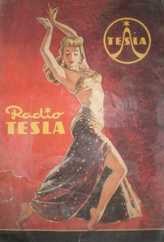 """Radio TESLA"" 42 Vintage Radio Adverts from Czechoslovakia Vintage Advertisements, Vintage Ads, Vintage Posters, Vintage Designs, Cool Posters, Travel Posters, Radios, Old School Radio, Vintage Cycles"
