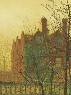 John Atkinson Grimshaw, details from Autumn Gold, 1880.
