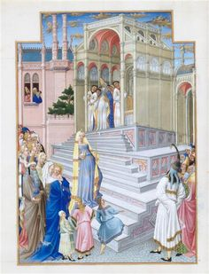 Les Très Riches Heures du duc de Berry (1411-1416) Les Heures de la Vierge : début de None