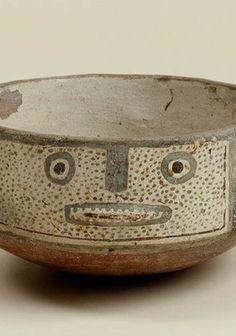 Escudilla decorada Paola Gonzalez, Terracota, Inca, Chile, Decorative Bowls, Pottery, People, Wedges, Slanted Walls