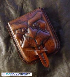 LARP - LRP Tooled leather pouch made by Mark Cordory Creations… Leather Belt Bag, Leather Art, Leather Gifts, Tooled Leather, Leather Bags Handmade, Leather Tooling, Leather Purses, Leather Wallet, Leather Diy Crafts