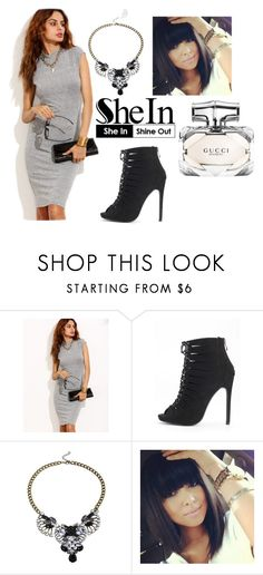 """""""#4/3 Shein"""" by ahmetovic-mirzeta ❤ liked on Polyvore featuring Gucci"""