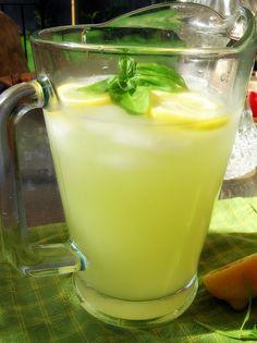Summertime Basil Lemonade - add a twist to regular fresh-squeezed lemonade with garden herbs #summerrecipes #lemonade #SummerSoiree #foodnetwork