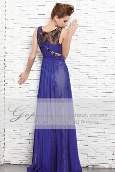 Great sheer layer over lace. Blue and black