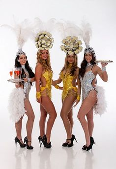 Gold & Silver Showgirls. Big Foot Events.