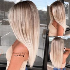Golden Blonde Balayage for Straight Hair - Honey Blonde Hair Inspiration - The Trending Hairstyle Medium Hair Styles, Long Hair Styles, Blonde Hair Looks, Blonde Straight Hair, Blonde Hair For Summer, Sandy Blonde Hair, Platinum Blonde Hair, Balayage Hair Blonde, Dirty Blonde Hair With Highlights