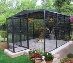 Suncatcher Bird Cages : 10 X 12.5 Ft. Flight Aviary large aviaries, outdoor cages,