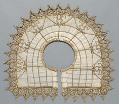 Italian Lace ~ 16th century ~ collar with supportase ~ Metropolitan Museum of Art