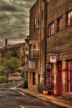 Stormy Street Of Jerome Arizona Prints for Sale by Diana Graves Photography #JeromeArizona