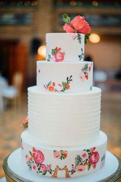 Featured Photographer: Tim Tab Studios, Featured Cake: Elysia Root Cakes; Wedding cake idea.