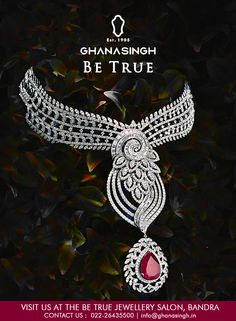 Charismatic and splendid, this diamond-studded #necklace set from the #PrincessBrideCollection perfectly befits the free-spirited and uber chic #BridalDiva.