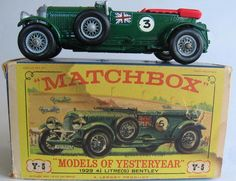 1964 MATCHBOX Lesney Models Of Yesteryear Y-5 1929 4.5 Litre ...