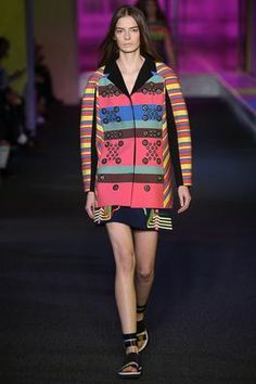 Technicolor dreamcoat. Peter Pilotto Spring 2015 Ready-to-Wear RTW London Fashion Week LFW