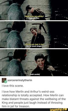 Merlin: I wish I could strangle Arthur to death while he hangs upside down in a pig pen The Knights: Ahahaha.Good one, Merlin! Merlin Funny, Merlin Memes, Merlin Merlin, Merlin Quotes, Lancelot Merlin, Colin Morgan, Bbc, Merlin Et Arthur, Jokes