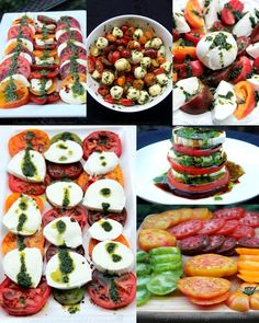 Caprese salad presentation ideas