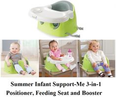 Check Summer Infant SupportMe 3-in-1 Positioner, Feeding Seat, and Booster Seat for baby and toddler girls and boys, an exceptional seat that provides three different use of the booster seat.