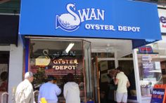 Swan Oyster Depot - one of the finest restaurants in San Francisco in anyone's book.  Not pretty, mind you – just darn good fresh fish and great people.