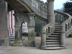 Belfast Castle and Cat Garden, Belfast N. Ireland   Such a beautiful stone staircase.  It's amazing!