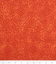 April Cornell Quilt Fabric- Fresh Blooms Maze Orange($9.99/yd) April Cornell, Wedding Fabric, Joann Fabrics, Maze, Quilting, Bloom, Fresh, Orange, Sewing