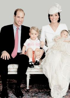 Family portrait The Duke of Cambridge Prince George and Princess Charlotte