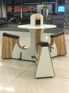 Outlet At The Airport That Generates Power By Pedaling