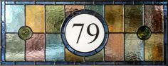 STAINED GLASS FANLIGHT WITH YOUR OWN HOUSE NUMBER in Antiques, Architectural Antiques, Stained Glass | eBay