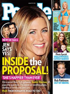 Jennifer Aniston covers #People Magazine - August 27, 2012 Inside the Proposal! issue