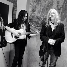 PJ Harvey and Patti Smith