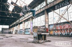 Backflipping off a destroyed piano in an abandoned warehouse [OC] [5760x3840]