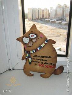 Ароматные кофейные кошаки, сделаны с жуткой любовью и в позитивном настроении! Рост у моих любимцев 14 см. Каждый раз смотрю на них - и расплываюсь в улыбке!)) фото 5