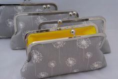 Bridesmaid Clutch Handbag Set in Gray by JennyGirlDesigns on Etsy, $46.00