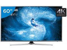 """Smart TV LED 60"""" Samsung 4K/Ultra HD Gamer - UN60JS7200 Wi-Fi 4 HDMI 3 USB"""