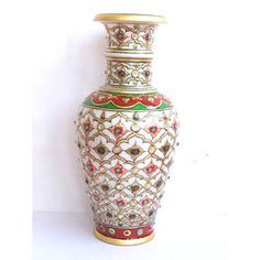 Flower Vase Painted Online Shopping India Buy Handicrafts Gifts Home Decor Statues Fashion Jewellery