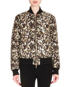 Givenchy Reversible Bomber Jacket, Studded Wool Knit Top & Zip-Trimmed Jean Leggings