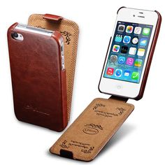 Vintage Case For iPhone 4 4S Luxury PU Leather Flip Elegant Vertical Flip Phone Cover Coque Capinha For Apple iPhone 4 4 S Cases