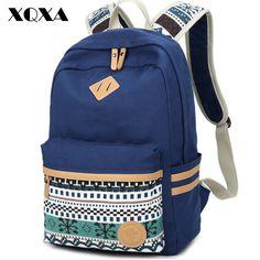 Donne di etnia zaino per la scuola adolescenti ragazze dell'annata elegante signore sacchetto di scuola zaino di tela femminile back pack di alta qualità