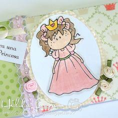 Hilda Designs: Reto #19 en LA&C: Princesas y Hadas Una Envoltura para Chocolate, digi Princess Charlie - pretty de  bugaboostamps