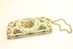 50s Floral Wristlet / 1950s Change Purse Clutch / by CrushVintage